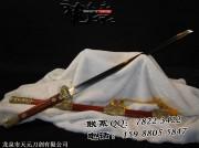 酸枝木豪华唐刀|唐刀|花纹钢烧造|★★★★