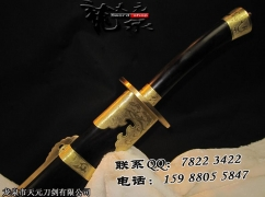上等檀木牛尾刀精品版|清刀|花纹钢|★★★