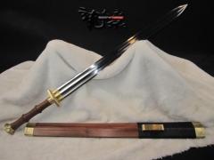 龙泉天元 龙泉宝剑 【三枚八面汉剑】汉剑 花纹钢 刀剑专卖