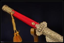 红珍珠鱼皮豪华唐刀升级版|高碳钢烧刃|唐刀|★★★★