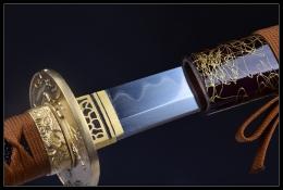 云中鹤花纹钢武士刀|花纹钢|武士刀|★★★