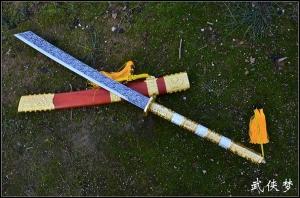 红木康熙战刀|清刀|高碳钢|★★
