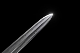 铜柄越王剑花纹钢双大槽|龙泉宝剑|花纹钢