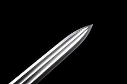 乌木永乐剑锰钢六面双半槽|龙泉宝剑|高碳钢