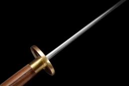 素装圆背苗刀|花纹钢|苗刀