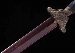 松鹤剑溢彩款 花纹钢 龙泉宝剑