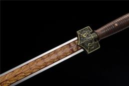 实木柄四兽轩辕纹八面汉剑|汉剑|高碳钢|★★|