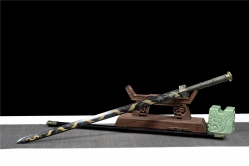 金属鞘云龙发黑汉剑 汉剑 碳钢 金属鞘金属柄 未开刃