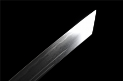 铜装花纹钢烧刃康熙宝刀 花纹钢烧刃 中国刀 ★★★★