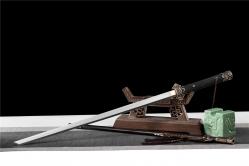 百炼花纹钢铜装牡丹豪华唐刀|唐刀|百炼花纹钢|★★★
